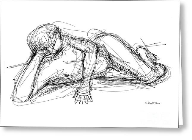 Nude Male Sketches 5 Greeting Card