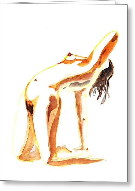 Nude Model Gesture IIi Greeting Card by Irina Sztukowski