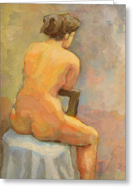 Nude Painting  4 Greeting Card by Alfons Niex