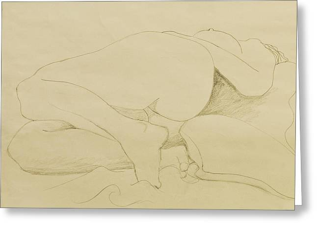 Nude Study Greeting Card by Don Perino