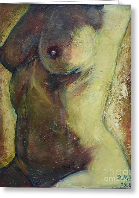 Nude Female Torso Greeting Card