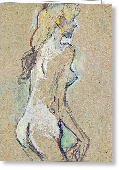 Nude Young Girl Greeting Card