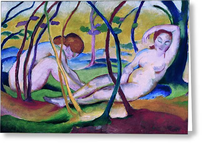 Nudes Under Trees Greeting Card