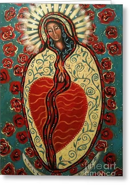 Nuestra Senora De Guadalupe Greeting Card by Maya Telford
