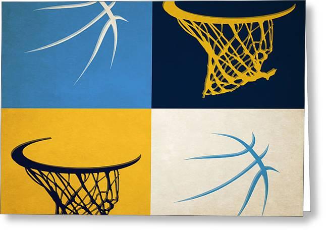 Nuggets Ball And Hoop Greeting Card by Joe Hamilton