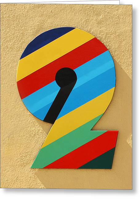Number 2 Greeting Card by Art Block Collections
