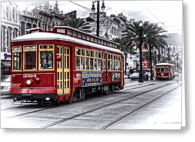 Number 2024 Trolley Greeting Card by Tammy Wetzel