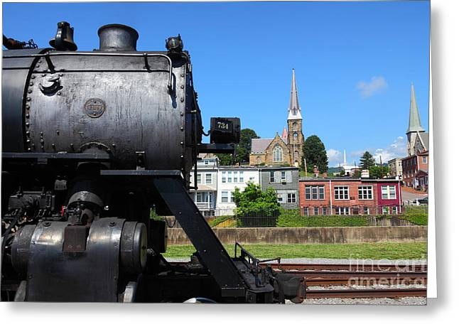 Number 734 At Cumberland Station Greeting Card by James Brunker