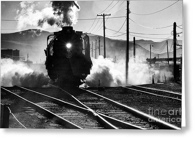 Greeting Card featuring the photograph Number 844 Pulling Out by Vinnie Oakes