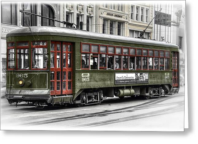 Number 965 Trolley Greeting Card by Tammy Wetzel