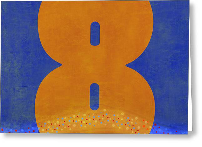 Number Eight Flotation Device Greeting Card