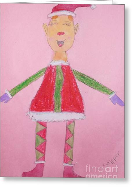 Number One Elf  Greeting Card by PainterArtist FIN