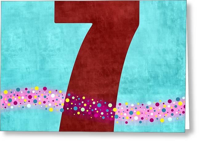 Number Seven Flotation Device Greeting Card