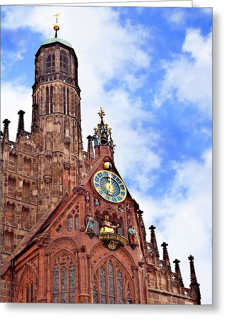 Nuremberg, Germany, Church Of Our Lady Greeting Card