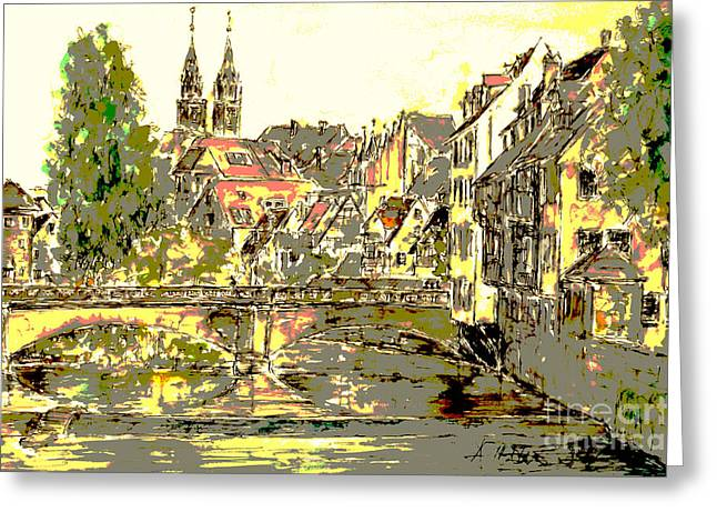 Nuremberg View To St.laurence Church Greeting Card by Almo M