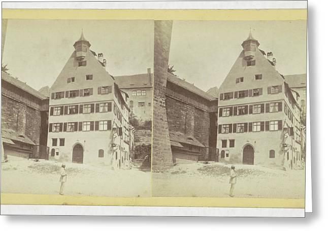 Nurnberg Pilate Haus, Germany, Johann Friedrich Stiehm Greeting Card