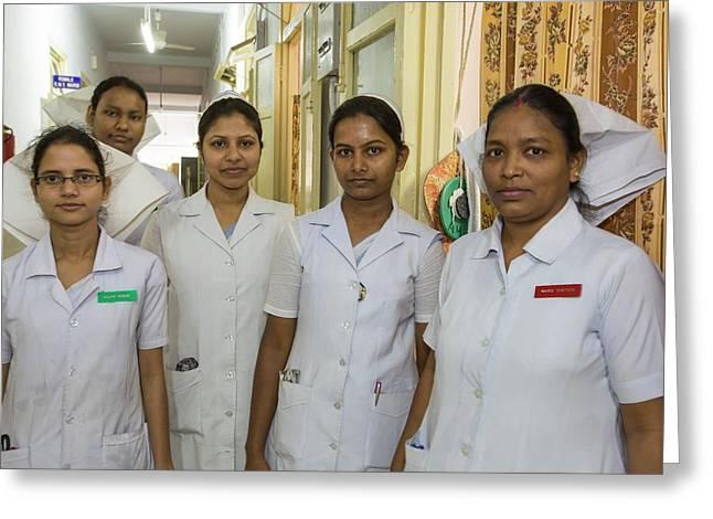 Nurses At The Ramakrishna Mission Greeting Card