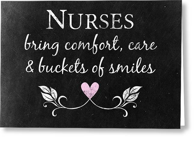 Nurses Bring Comfort Greeting Card by Flo Karp