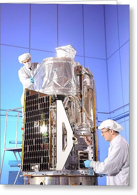 Nustar Space Telescope Construction Greeting Card