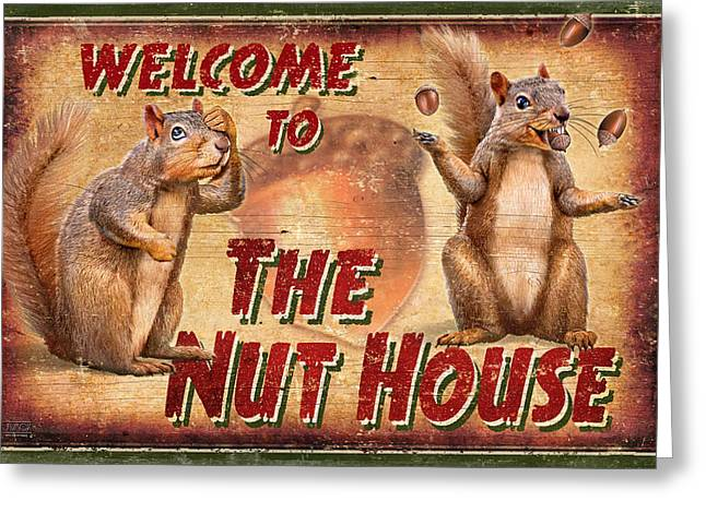 Nut House 2 Greeting Card by JQ Licensing