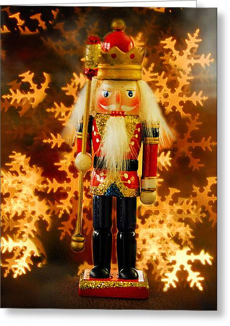 Nutcracker Greeting Card by Mary Timman