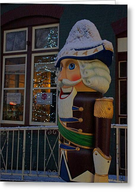 Nutcracker Statue In Downtown Grants Pass Greeting Card by Mick Anderson