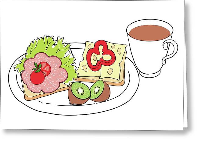 Nutritious Breakfast Greeting Card by Jeanette Engqvist
