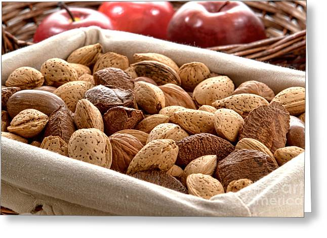 Nuts Greeting Card by Olivier Le Queinec