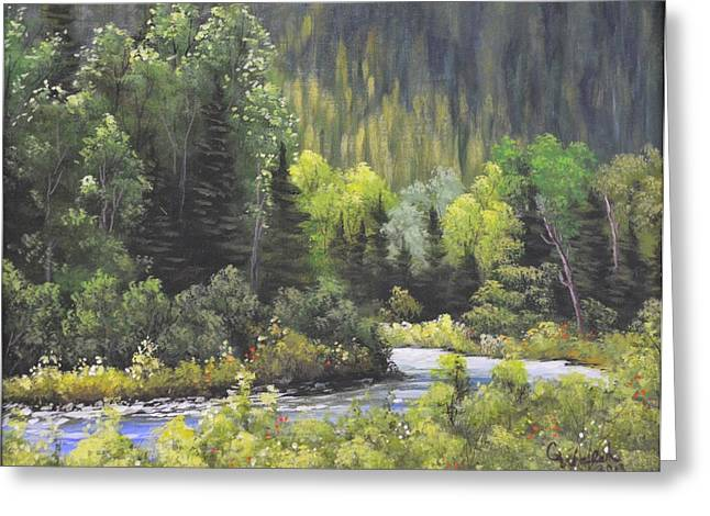 Nw Branch Old Man River Greeting Card