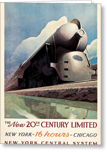 Ny Central System Greeting Card by Allen Beilschmidt