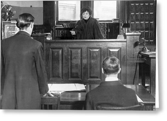 Ny Judge Carroll Mccomas Greeting Card by Underwood Archives