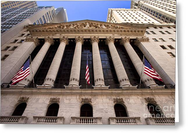 Ny Stock Exchange Greeting Card by Brian Jannsen