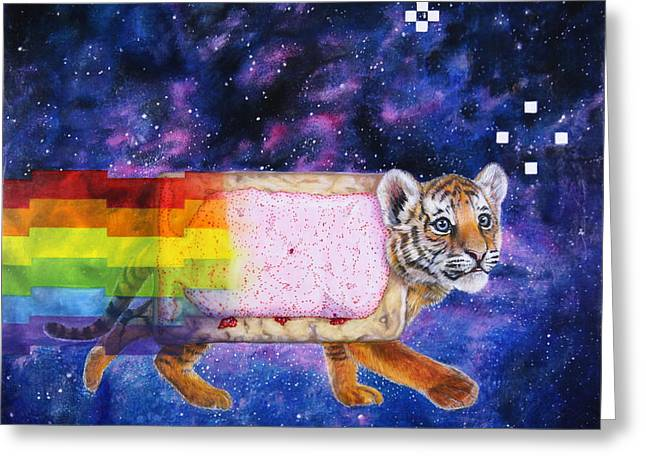Nyantiger Nyancat Two Point Oh Greeting Card by David Starr
