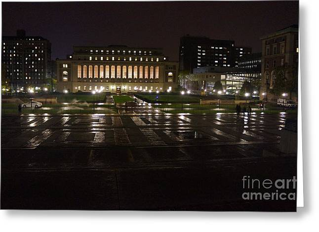 Nyc 4 - Butler Library Greeting Card by Ami Fazchas