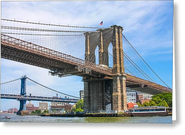 Nyc Bridges To Brooklyn Greeting Card