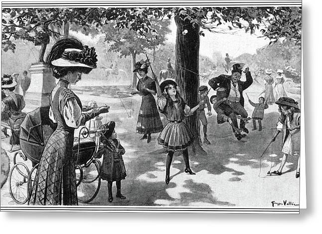 Nyc Central Park, 1900 Greeting Card