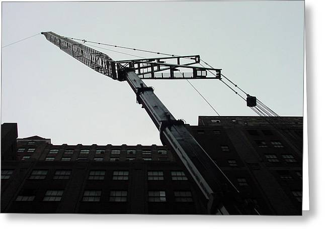 Nyc Construction Crane  Greeting Card