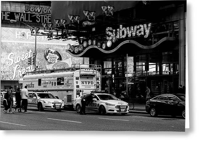 NYC Greeting Card by Diane Tisseur Groovy Lens Photographic Art