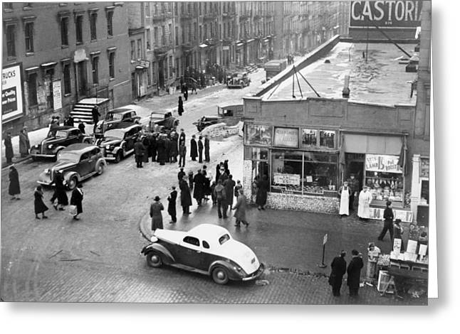 Nyc Drug Raid, 1939 Greeting Card