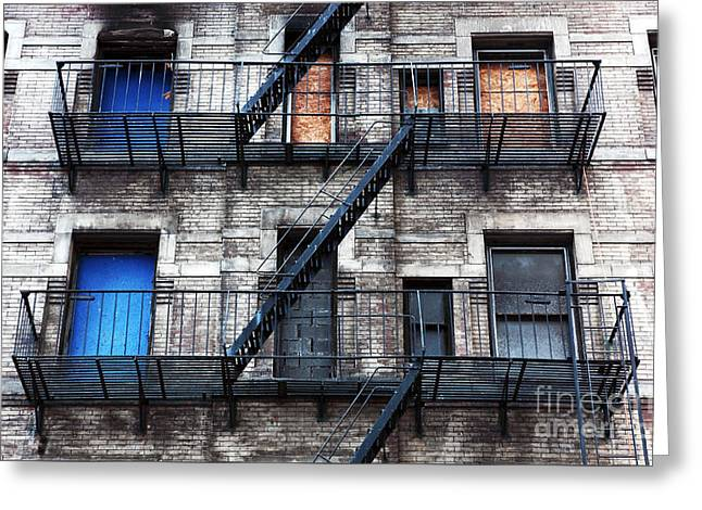 Nyc Escape Greeting Card by John Rizzuto