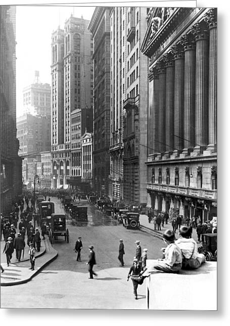 Nyc Financial District Greeting Card by Underwood Archives