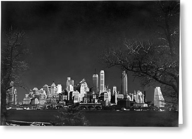 Nyc From Governors Island Greeting Card