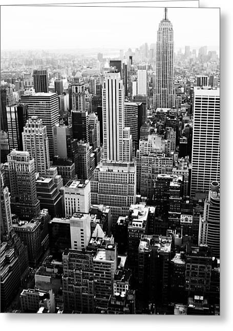 Nyc From Rockefeller Center Greeting Card