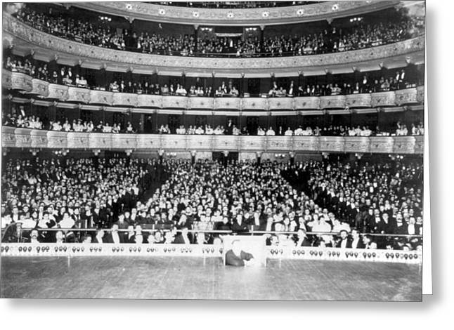 Nyc, Metropolitan Opera House Audience Greeting Card by Science Source