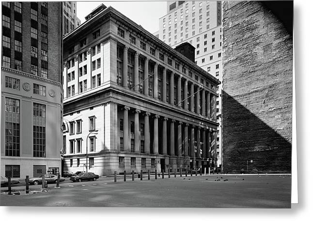Nyc National City Bank Greeting Card by Granger