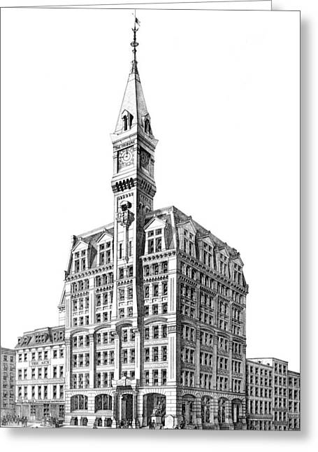 Nyc, New York Tribune Building Design Greeting Card
