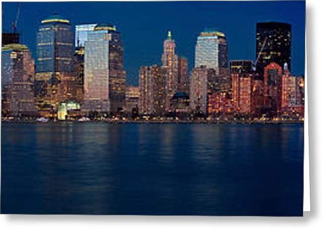 Nyc Pano Greeting Card by Jerry Fornarotto