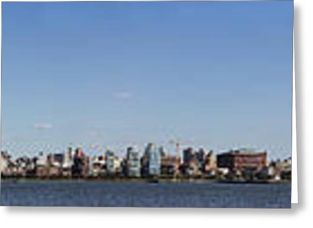 Nyc Panoramic Greeting Card by Tony Cordoza