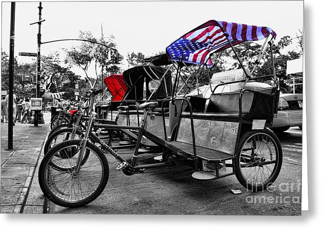 Nyc Pedicabs Greeting Card