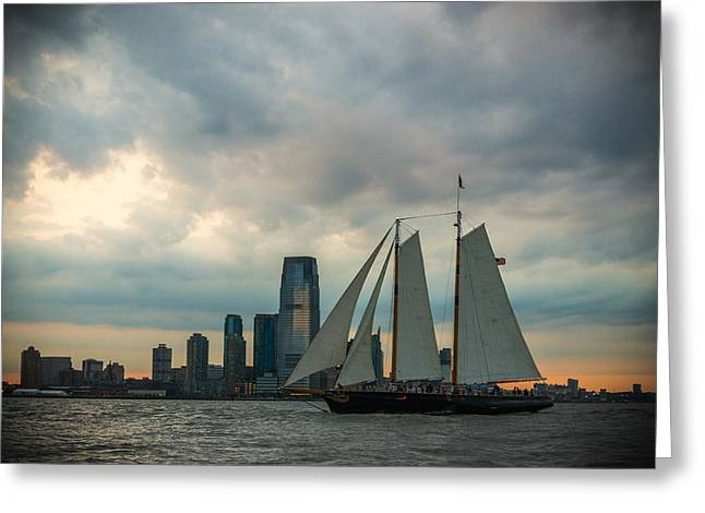 Nyc Pirates Greeting Card by Kristopher Schoenleber